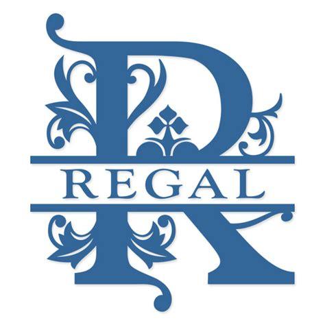 regal split monogram cuttable svg font