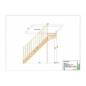 Escalier Tournant Haut by Escalier 1 4 Tournant Haut En Sapin En Kit