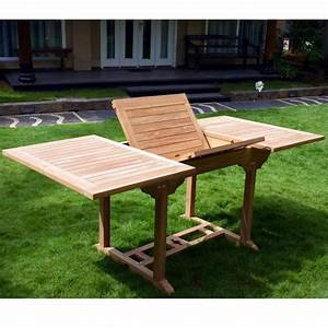 Table Teck Jardin : table de jardin en teck 8 places rallonge papillon ~ Teatrodelosmanantiales.com Idées de Décoration