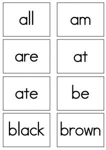 dolch sight words flash cards primer sight words 580 | Primer Flash cards print 212x300
