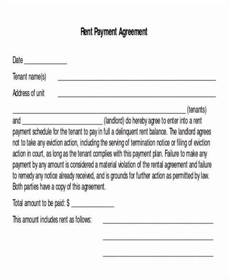 payment plan agreement template unique sample payment plan