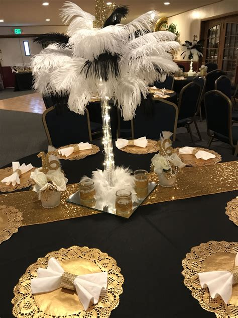 great gatsby sweet  birthday party decorations black