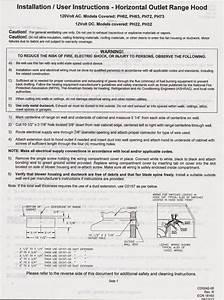Ventline Range Hood Wiring Diagram
