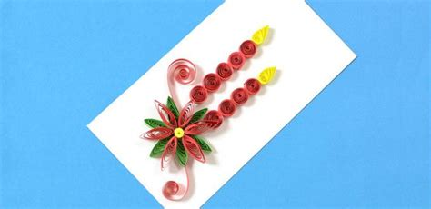quilled poinsettia card fun family crafts
