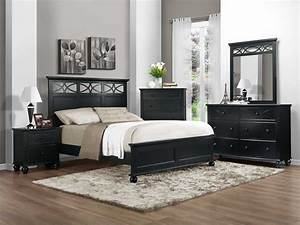 Homelegance Sanibel Bedroom Set - Black B2119BK-Bed-Set at