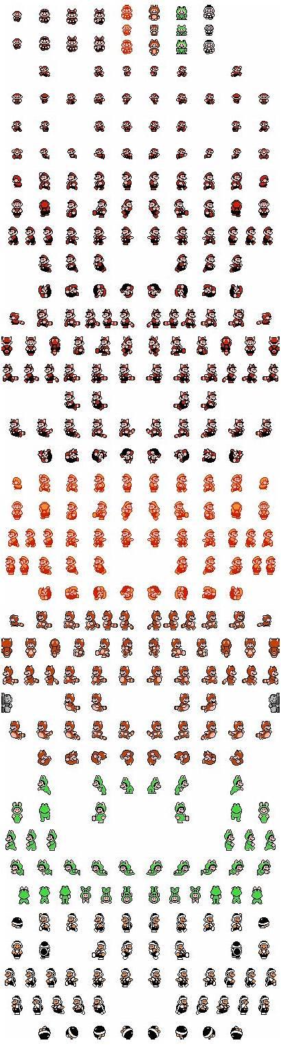 Mario Sprites Bros Sheet Smb3 Sprite Nes