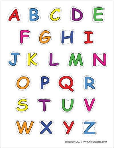 alphabet upper case letters  printable templates