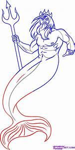 How to Draw Poseidon, Step by Step, Greek Mythology ...