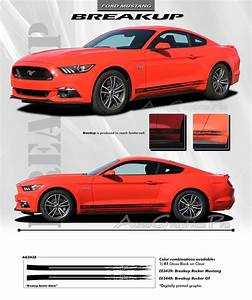 2015 2016 2017 Ford Mustang BREAKUP ROCKER Lower Rocker Stripes Vinyl Decal Graphics Kit