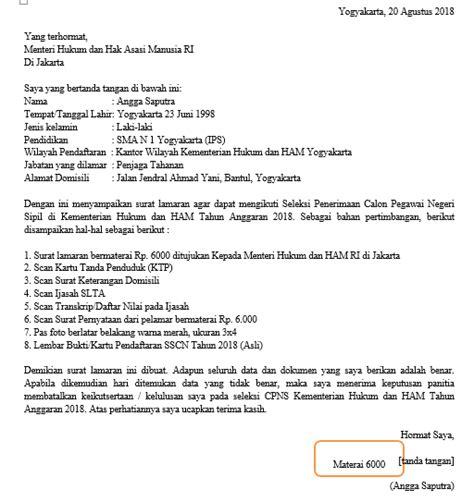 Surat Lamaran Cpns Kemendikbud by Contoh Surat Lamaran Cpns 2018 Dan Cara Daftarnya