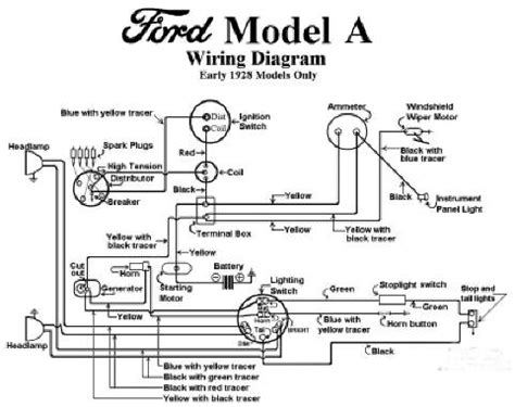 1928 Ford Model A Wiring electrical model a garage inc