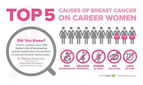 Top 5 Causes Of Breast Cancer On Career Women Visually