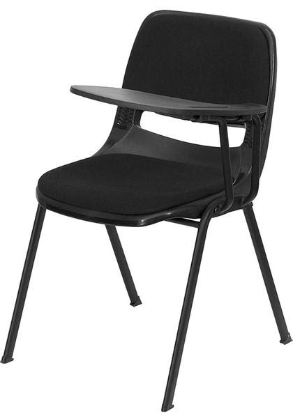 Flash Furniture Rut Eo1 01 Pad Rtab Gg Padded Black Ergonomic Shell Chair With Left Handed Tablet