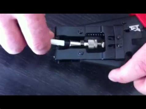 kompression stecker crimzange youtube