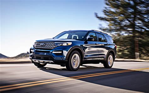 wallpapers ford explorer  blue suv