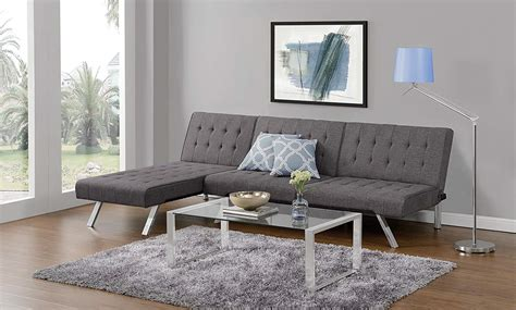 the best futon the best small sleeper sofa dhp emily convertible linen