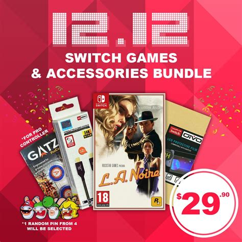 [12.12] Crazy Nintendo Switch Game & Accessories Bundle