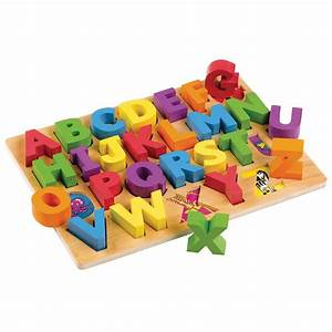 Wooden abc alphabet puzzle board from early years for Letter toys for toddlers