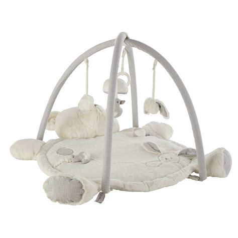 chambre mixte bébé tapis d 39 éveil ourson en coton 60 x 90 cm gaspard maisons