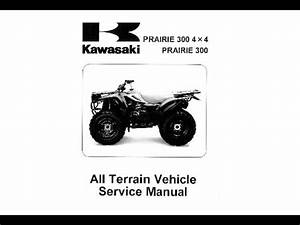Kawasaki Prairie 300 4x4 Service Manual