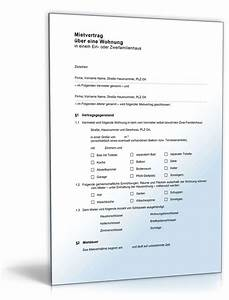 Mietvertrag Kündigungsfrist Mieter : mietvertrag einliegerwohnung muster vorlage zum download ~ Lizthompson.info Haus und Dekorationen