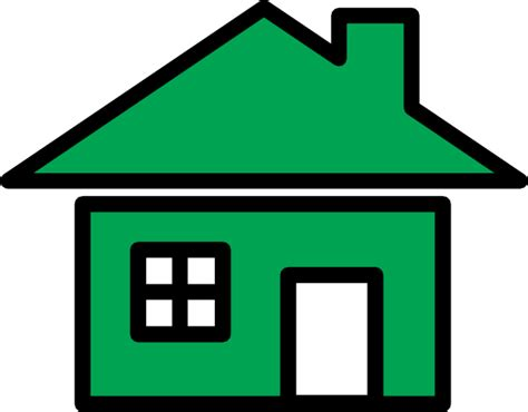 Green Home Icon Clip Art At Clker.com