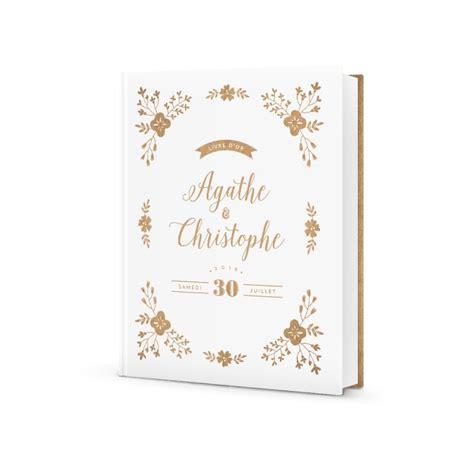 joli livre dor mariage personnalise design champetre