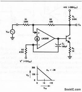 Norton High Voltage Inverting Amplifier