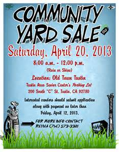 Community Yard Sale Flyers Templates