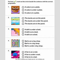 Choose The Sentence With The Correct Preposition  Turtlediarycom  Voorzetsels Prepositions