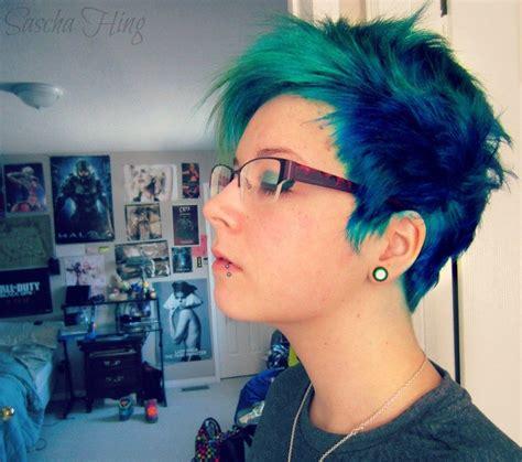 Best 25 Short Green Hair Ideas On Pinterest Green Hair