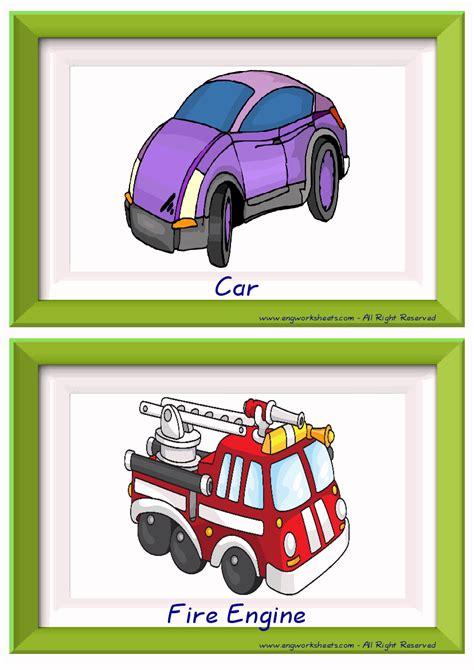 transportation esl printable english flash cards worksheets