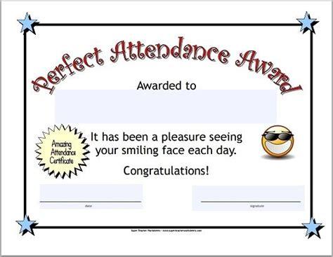 celebrate perfect attendance   class perfect