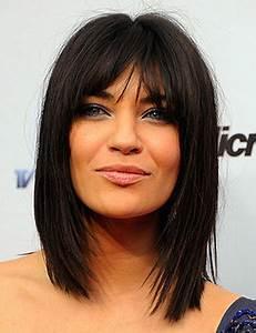 Frange Cheveux Long : coiffure cheveux mi long avec frange cheveux mi long raide ~ Melissatoandfro.com Idées de Décoration