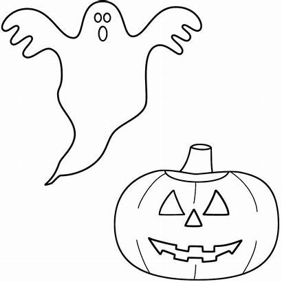 Ghost Coloring Pages Halloween Pumpkin Scary Drawing