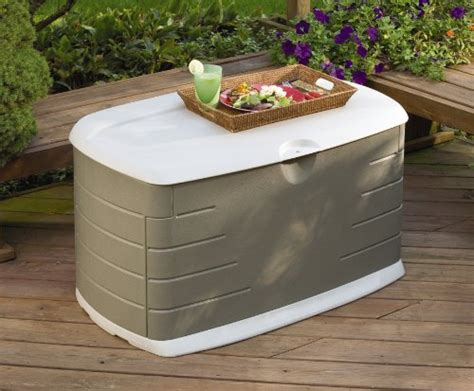 Rubbermaid Deck Box Assembly by Rubbermaid 5f21 Deck Box With Seat Ebay