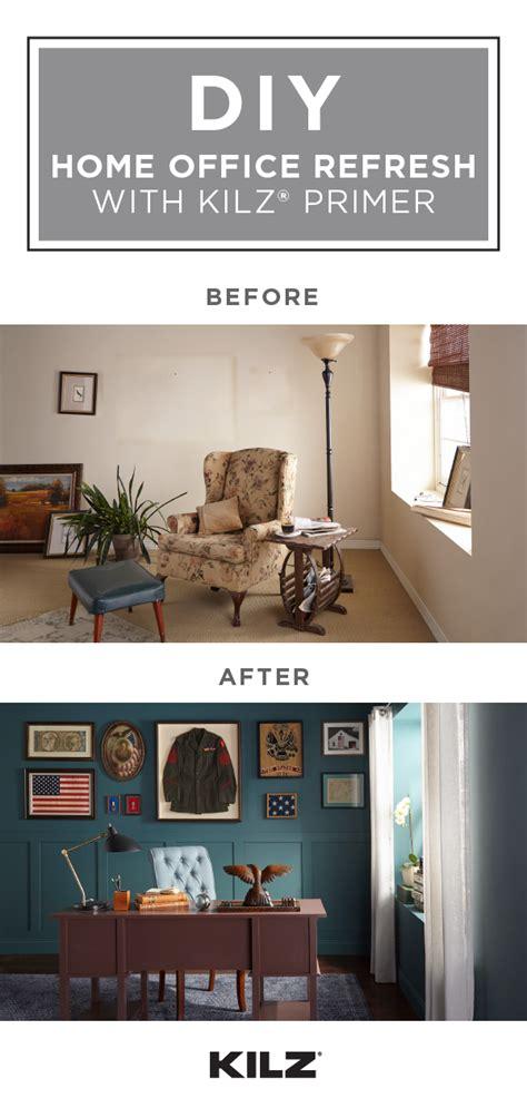 a new coat of kilz original primer and a bold wall color
