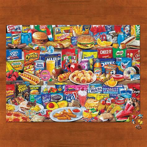 kids favorite foods  piece jigsaw puzzle collections