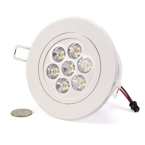 7 watt led recessed light fixture aimable recessed led