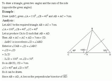 construction of triangle high school mathematics