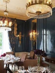 Faux, Japanning, Lacquer, Walling, In, Hague, Blue, -, Belgravia