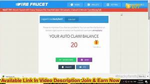 Firefaucet Win Auto Claims Earn Upto 10 Day Doge Blk