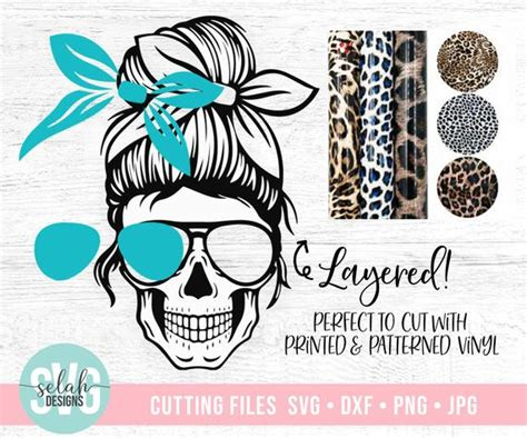 There are 1491 free sugar skull svg for sale on etsy, and they cost $2.45 on average. Layered Mom Skull svg Messy bun skull svg Mom life SVG   Etsy