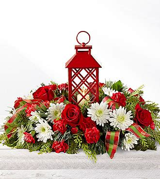 Ftd Holiday Wishes Centerpiece  Deluxe Christmas
