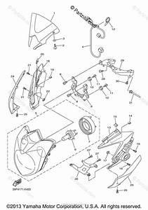 Yamaha Motorcycle 2012 Oem Parts Diagram For Headlight