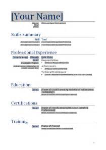 Resume Template Builder It Resume Template How To Write Stuff Org