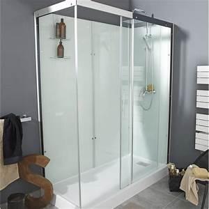 Cabine De Douche Rectangulaire : cabine de douche rectangulaire 170x80 cm thalaglass 2 ~ Melissatoandfro.com Idées de Décoration