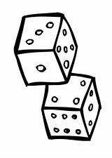 Dice Coloring Pages Printable Getcolorings sketch template