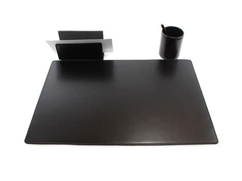 sous main de bureau en cuir noir