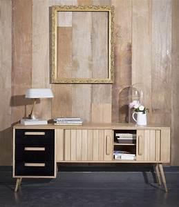 Meuble Tv En Chene : meuble tv vintage en chene mr marius ~ Teatrodelosmanantiales.com Idées de Décoration